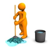 14502340-orange-cartoon-character-with-dust-mop-and-bucket-on-the-white-background