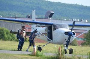 8.Lynn boarding plane